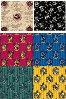 Harry Potter 100% Cotton Fabric Fat Quarters / Half Metres / Metres