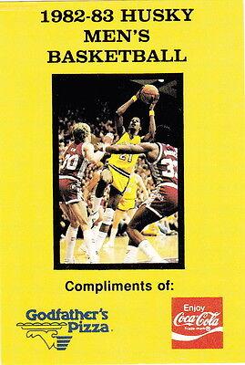 - 1982-83 UNIVERSITY OF WASHINGTON HUSKY MEN'S BASKETBALL POCKET SCHEDULE
