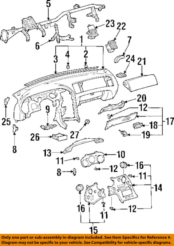 Toyota Oem 93-98 Supra Instrument Panel-dash 5540114510c0