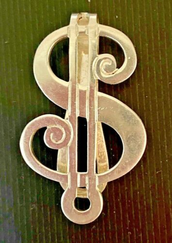 Vintage Sterling Silver 925 Dollar Sign  Money Clip By R. BLACKINTON & CO