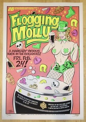 2006 Flogging Molly - Orlando Silkscreen Concert Poster s/n by Stainboy