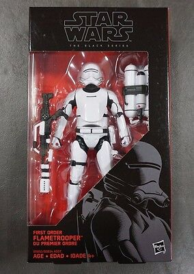 "First Order Flametrooper STAR WARS The Black Series 6"" Figure AUTHENTIC #16 16"