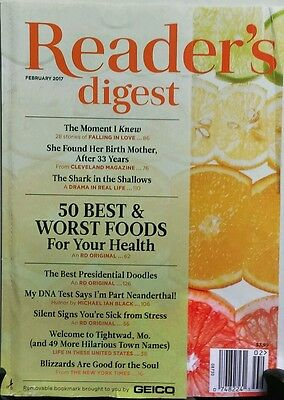 Reader's Digest Feb 2017 50 Best & Worst Foods For Your Health FREE SHIPPING (50 Best Literary Magazines)