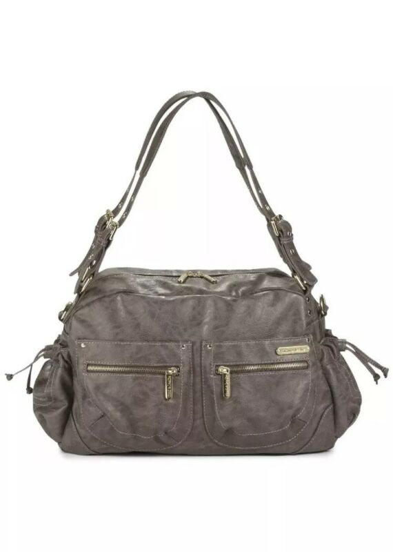 Time and Leslie Jessica Diaper Bag Taupe NWT