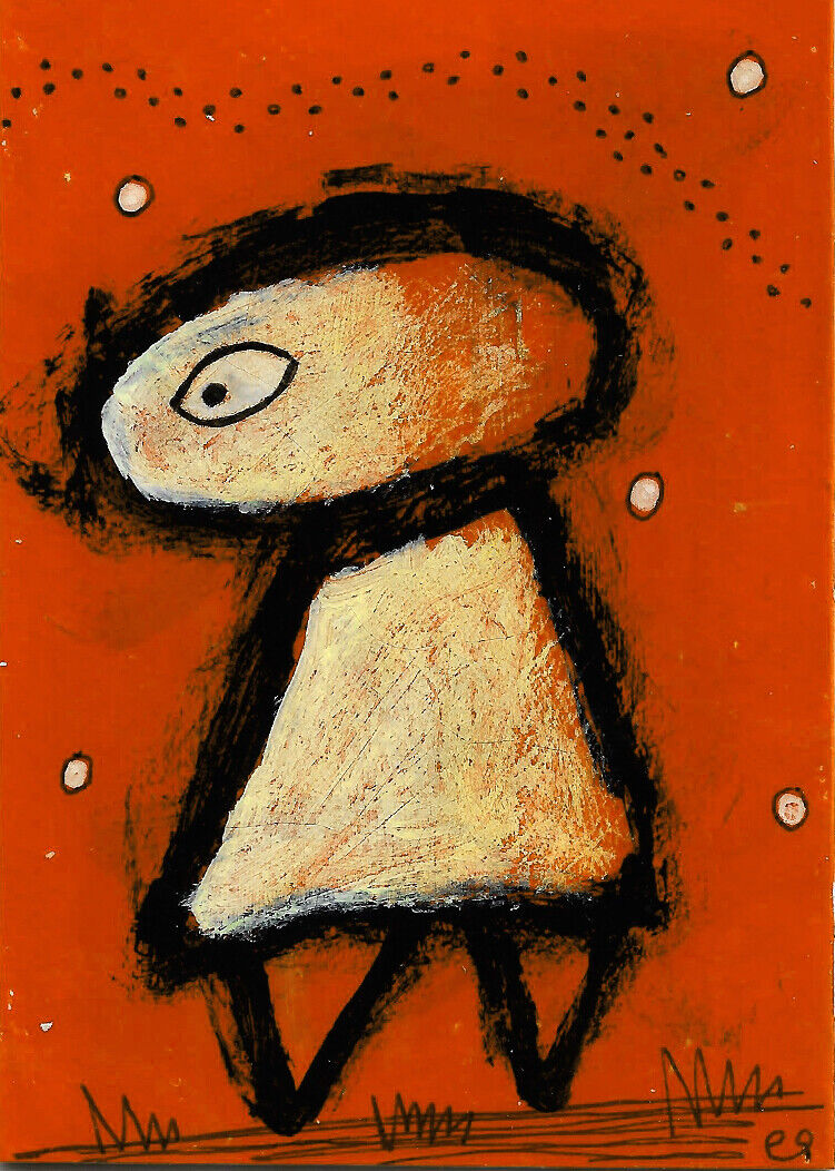 Wouldn t It Be Something If We Could Succeed, Not Just At... E9Art ACEO Outsider - $2.95