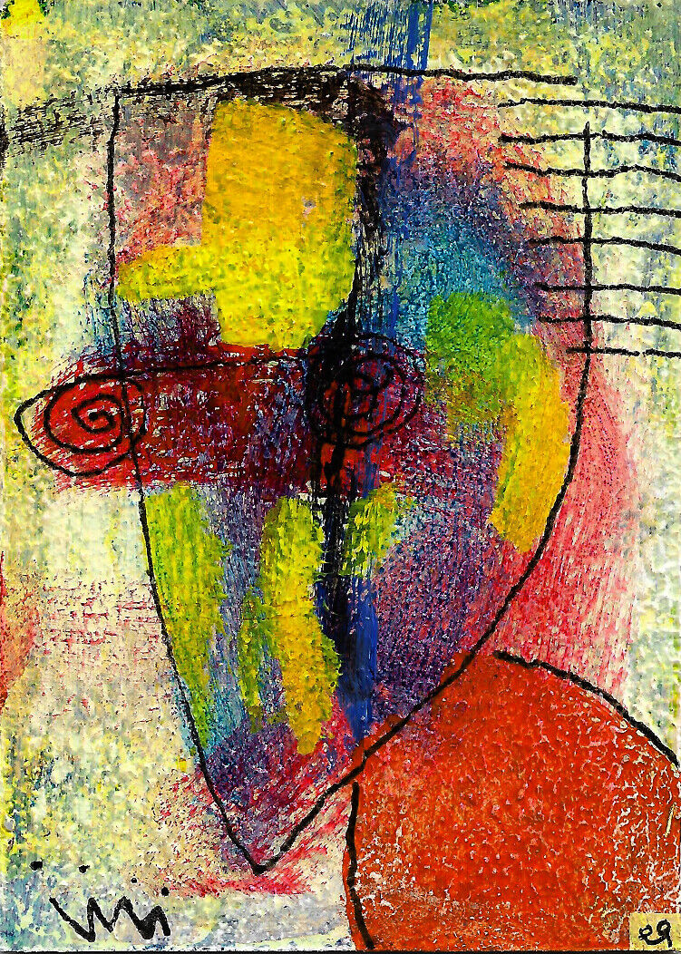 Things Happened This Way Because... E9Art ACEO Divine Feminine Gaia Outsider Art - $29.95
