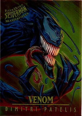SPIDER-MAN 1995 FLEER ULTRA MASTERPIECES INSERT CARD 8 OF 9 VENOM BY PATELIS MA