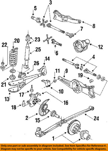 f 150 frame diagram ford oem 84 96 f 150 frame housing left e2tz5a306j ebay  ford oem 84 96 f 150 frame housing left