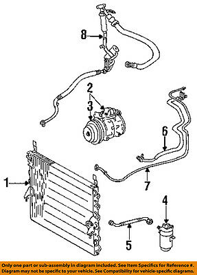 MERCEDES OEM 86-88 190E 2.3L-L4 AC A/C Air Conditioner-Suction Line 6021304257