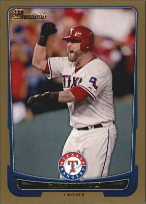 2012 Bowman Baseball Gold  158 Mike Napoli Texas Rangers