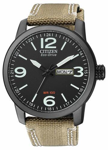 Citizen Eco-Drive Men's Global Collection Black Dial Band 42mm Watch BM8476-31E