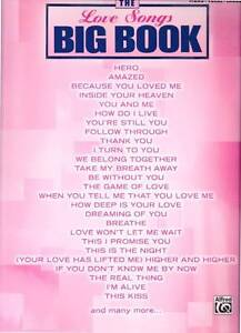 THE LOVE SONGS BIG BOOK PIANO GUITAR VOCAL SHEET MUSIC 50 SONGS Heidelberg West Banyule Area Preview