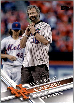 2017 Topps First Pitch  Fp3 Judd Apatow Citi Field