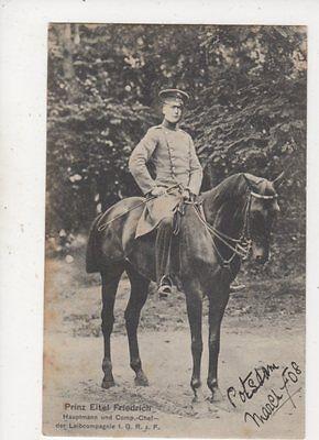 Prinz Eitel Friedrich Hauptmann Leibcompagnie 1908 Postcard Germany Royalty 038b