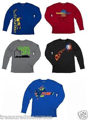 Tek Gear Long Sleeve Sports Graphic Shirt ~ Pick Your Favorite Color & Size!