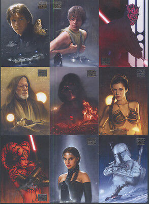 All 7 Star Wars Galaxy Sets Topps 1993 to 2012 - Series 1 Thru  7 All 835 Cards