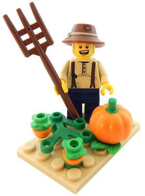 NEW LEGO PUMPKIN PATCH FARMER LOT halloween minifig farm figure minifigure - Halloween Pumpkin Patch