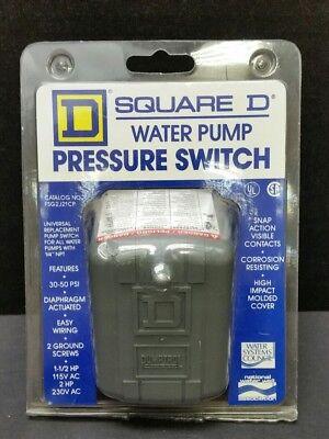 Square D Water Pump Pressure Switch Fsg2j21cp 30-50 Psi 14 Npt