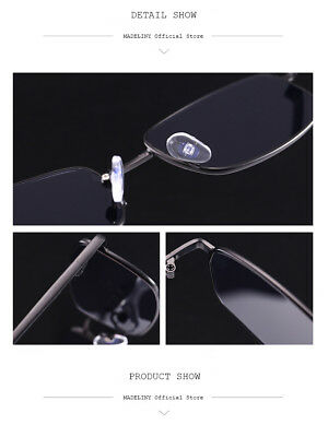 Mens Lady Small Color Lens Metal Rim Classic Sunglasses Narrow Rectangular Cool