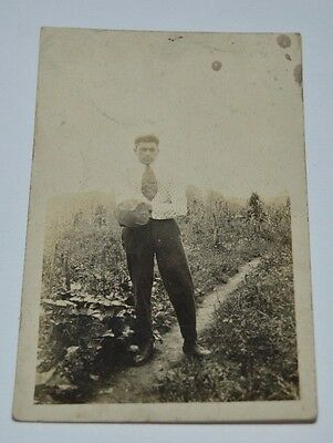 Vintage 1920s Well Dressed Man Fashion Black & White Photo Photograph Rare