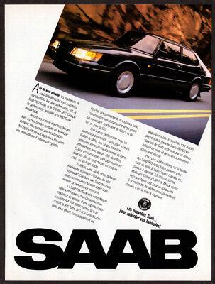 Used, 1987 SAAB 900 Turbo Vintage Original Print AD - Black car photo French Canada for sale  Quebec