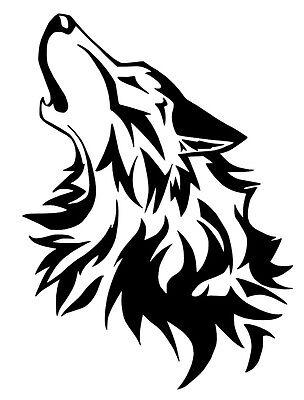 Wolf vinyl car Decal / Sticker