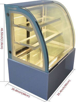 220v Commerical Cake Showcase Refrigerated Diamond Glass Display Case Cooler