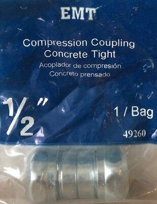 Sigma   Pro Connex 1 2  Emt Compression Coupling   Concrete Tight   49260   New
