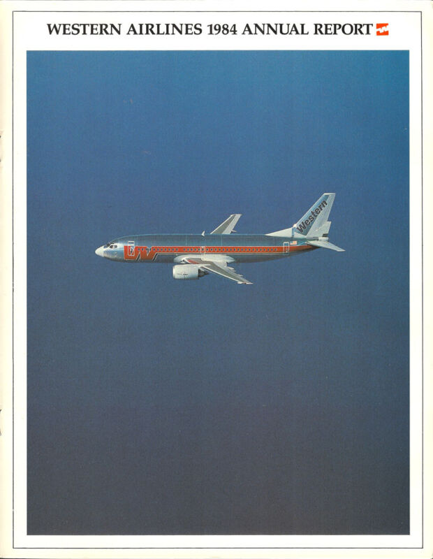 Western Airlines annual report 1984 [0095] Buy 4+ save 25%