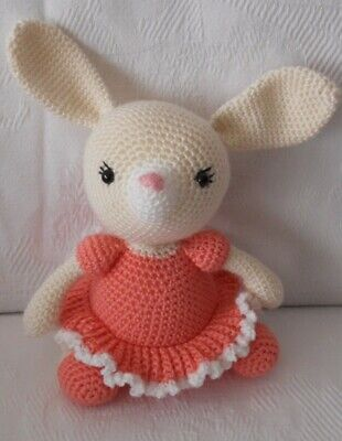 Peluche, juguete conejita rosa para bebé, o decoración habitación niños.