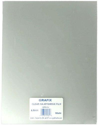 Grafix KSF50-CIJ 8-1/2-Inch by 11-Inch Shrink Film Printable Clear Inkjet 50-...