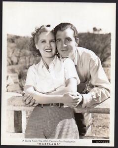 BRENDA JOYCE & JOHN PAYNE 1940 Vintage Orig Photo MARYLAND