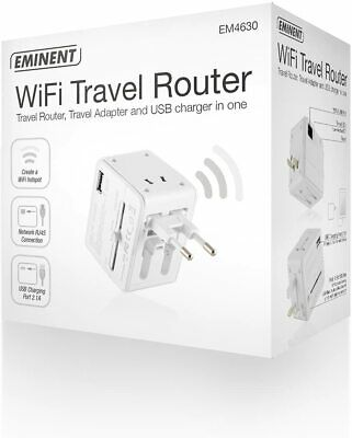 EMINENT EM4630 WIFI ETHERNET ROUTER Y CARGADOR USB - ADAPTADOR ELECTRICO