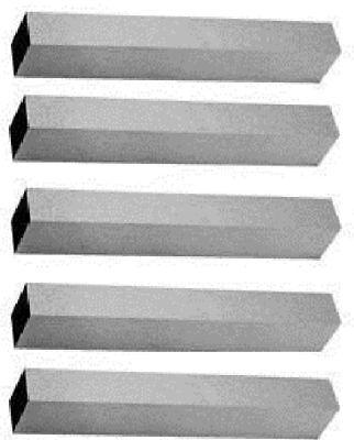 3pc 1 X 7 Hss Square Tool Bits M42 8 Cobalt