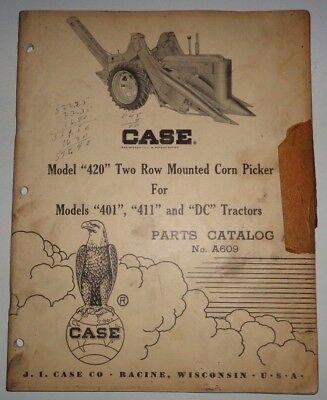 Case 420 Corn Picker Parts Catalog Manual Original Fits 401 411 Dc Tractors