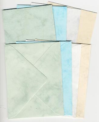 Mini-Doppelkarten mit Umschlägen - marmoriert-100-025