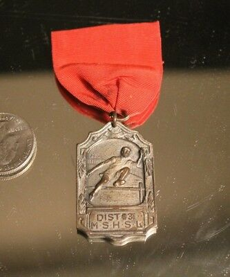 DIST #31 MN STATE HIGH SCHOOL LEAGUE TRACK & FIELD RIBBON & METAL 1931 NOT AWARD