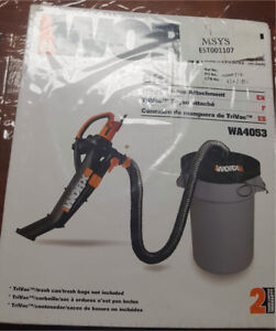 WORX WA4053 Leaf Collection System for WG500 TriVac 8ft hose