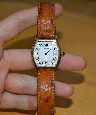 Genuine Cartier Tortue 18k Wristwatch Mechanical Movement 27x35mm