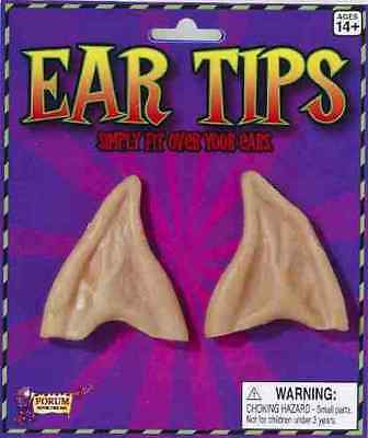 Pointed Ear Tips Elf Werewolf Devil Alien Halloween Costume Accessory 4 COLORS