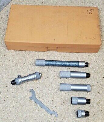 Mitutoyo No. 137-212 Tubular Inside Micrometer Set - 2 To 12