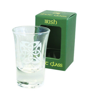 Shot Glass Celtic Square Crystal Shot Glass Frosted Etching