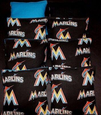NEW FLORIDA MARLINS MLB 8 CORNHOLE BEAN BAGS/ BAGGO/TOSS Top Quality Handmade! Mlb Bean Bag Toss