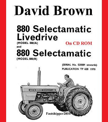 Case David Brown Tractor 880 Selectamatic Parts Catalog Manual A B Livedrive Non