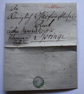 An Captain von Marschalik ( Schlacht Peterborough )- Brief 1814 - Battalion Club