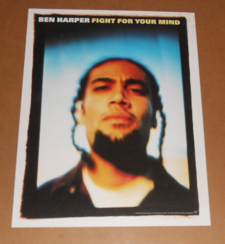 Ben Harper Fight for Your Mind Poster Original 1995 Promo 18x24
