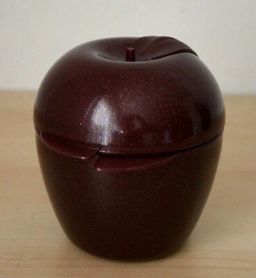 Tupperware Sparkle Forget-Me-Not Apple Keeper Pearl Merlot Color  New