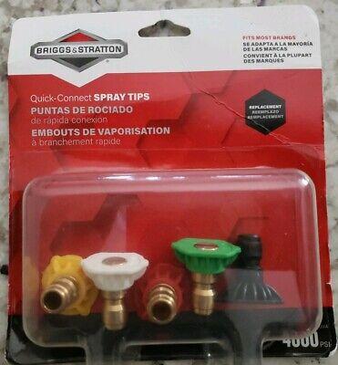 Briggs Stratton Quick-connect Nozzle Pressure Washer Spray Tips 5 Tips