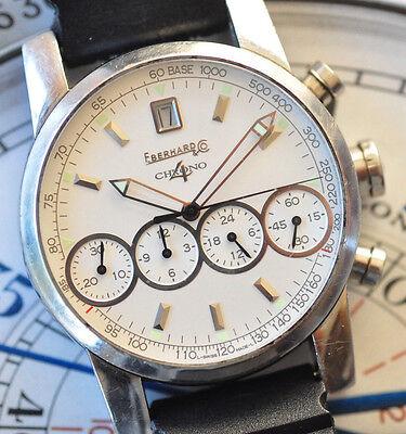 Eberhard & Co. Chrono-4 Chronograph Watch Ref 31041 Runs Strong Great Shape!