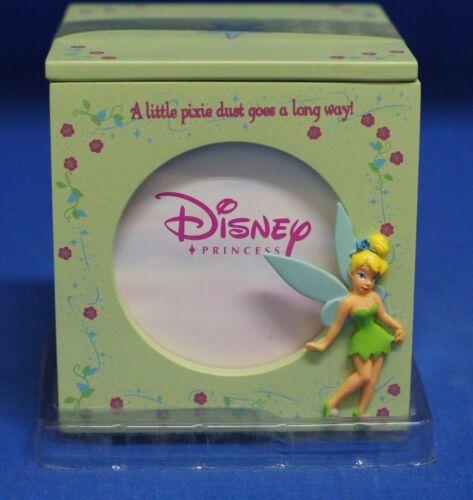 "Tinker Bell Cube Picture Frame & Trinket Keepsake Box  3"" Photo Disney Enesco"